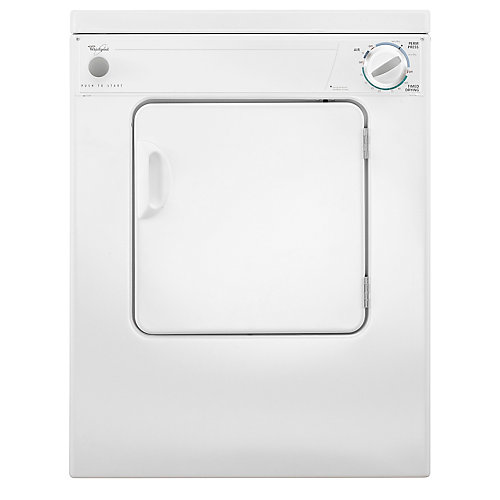 3.4 cu. ft. Compact Electric Dryer with AccuDry Drying System in White