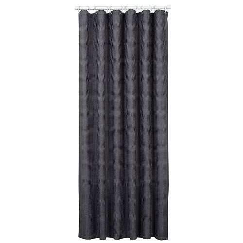 70 Inch W x 72 Inch H Fabric Shower Liner/Curtain in Steel Grey