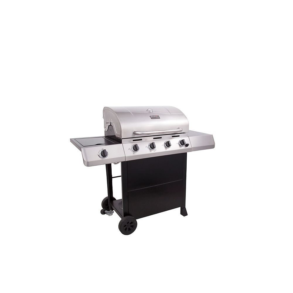 Char-Broil Classic C-453 4 Burner 50,000 BTU Stainless Steel Propane Gas Grill with Side Burner