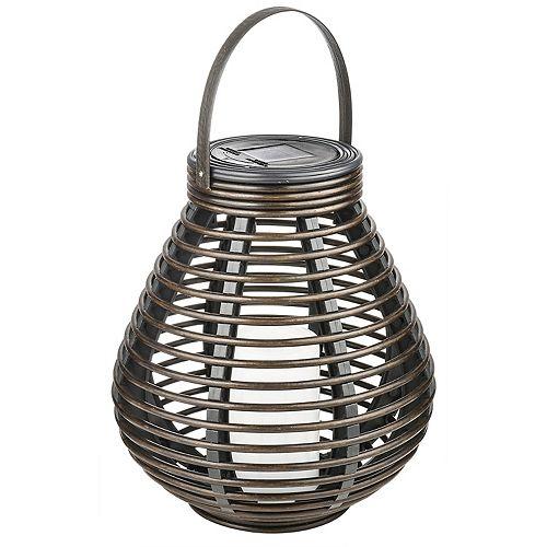 Lanterne solaire en rotin pour table ou patio