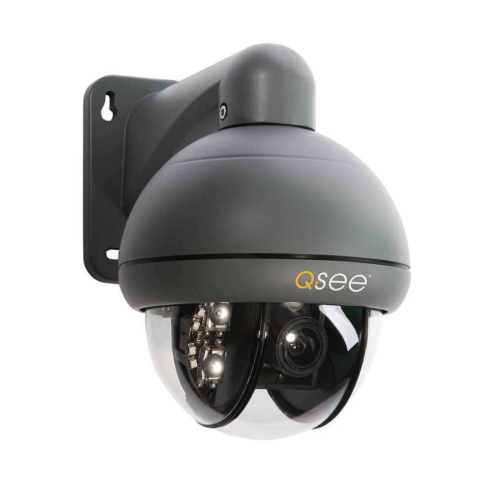Q-See QD6531Z-K Pan Tilt Zoom 650 TVL Resolution Camera with 3x Optical Zoom