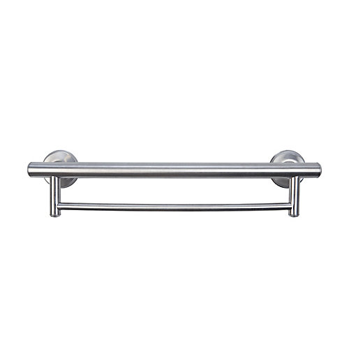 2-in-1 Grab Bar Towel Bar Brushed Nickel
