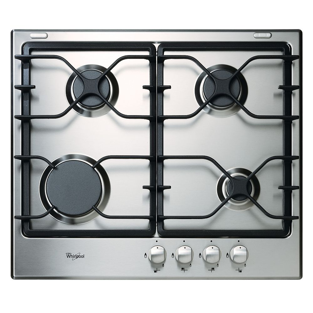 Whirlpool 24-inch Gas Cooktop in Stainless Steel with 4 Burners