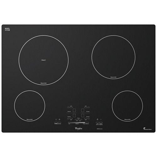 Table de cuisson à induction à surface lisse de 30 po de la série Gold en noir avec 4 éléments, y compris l'élément d'amplification