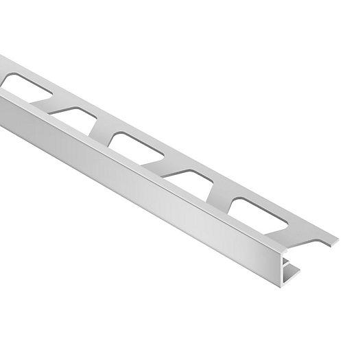 Schiene Satin Anodized Aluminum 5/16 in. x 8 ft. 2 in. Metal L-Angle Tile Edging Trim