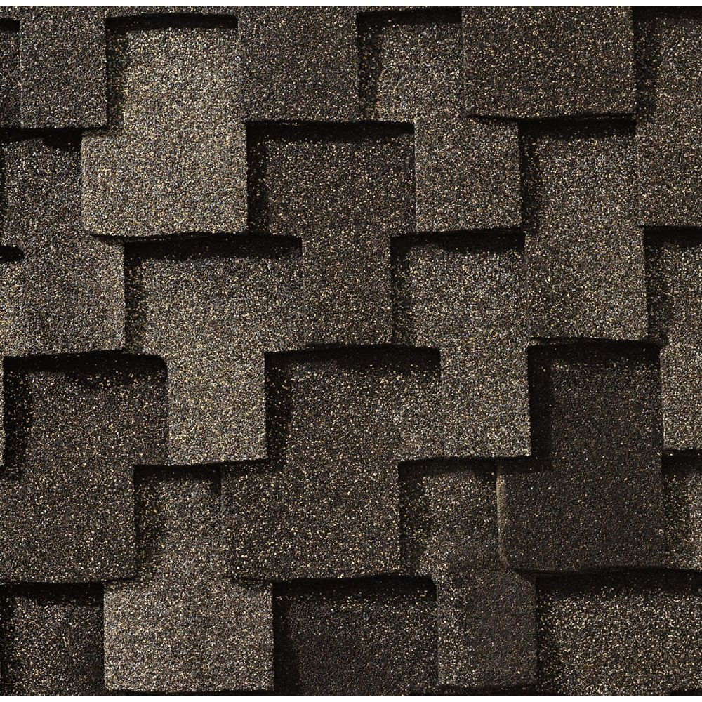 GAF Grand Canyon® Mission Brown Lifetime Designer Shingles (16.6 sq. ft. per bundle)