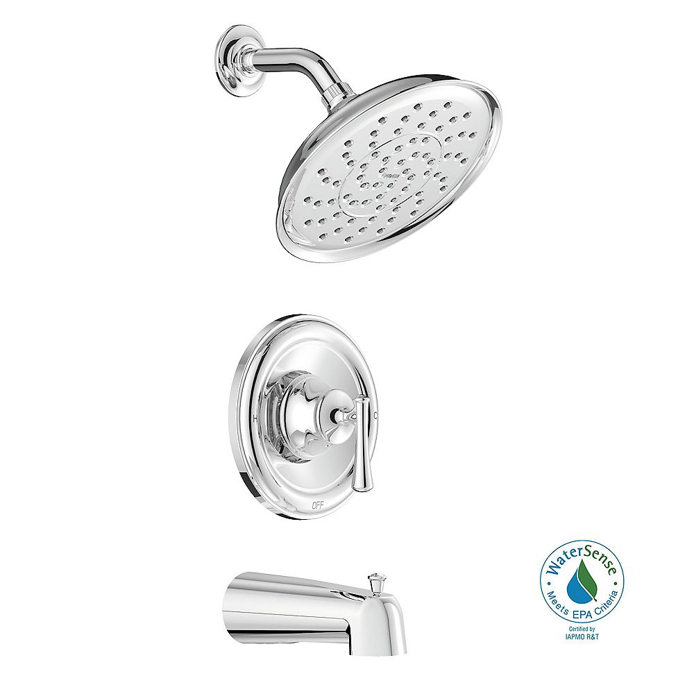 MOEN Ashville Single-Handle 1-Spray Tub and Shower Faucet with Valve in Chrome