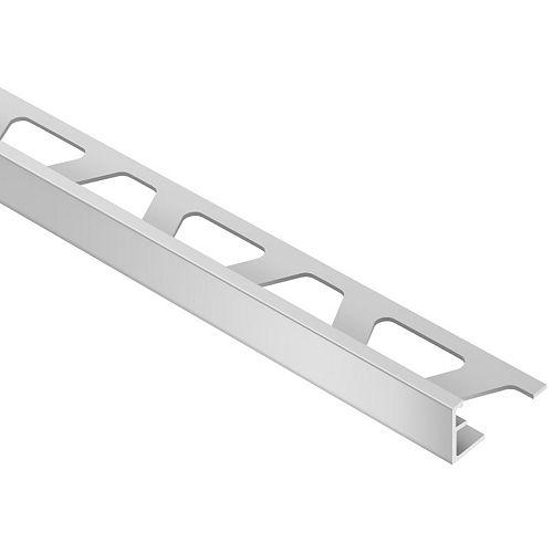 Schiene Satin Anodized Aluminum 1/2 in. x 8 ft. 2 in. Metal L-Angle Tile Edging Trim