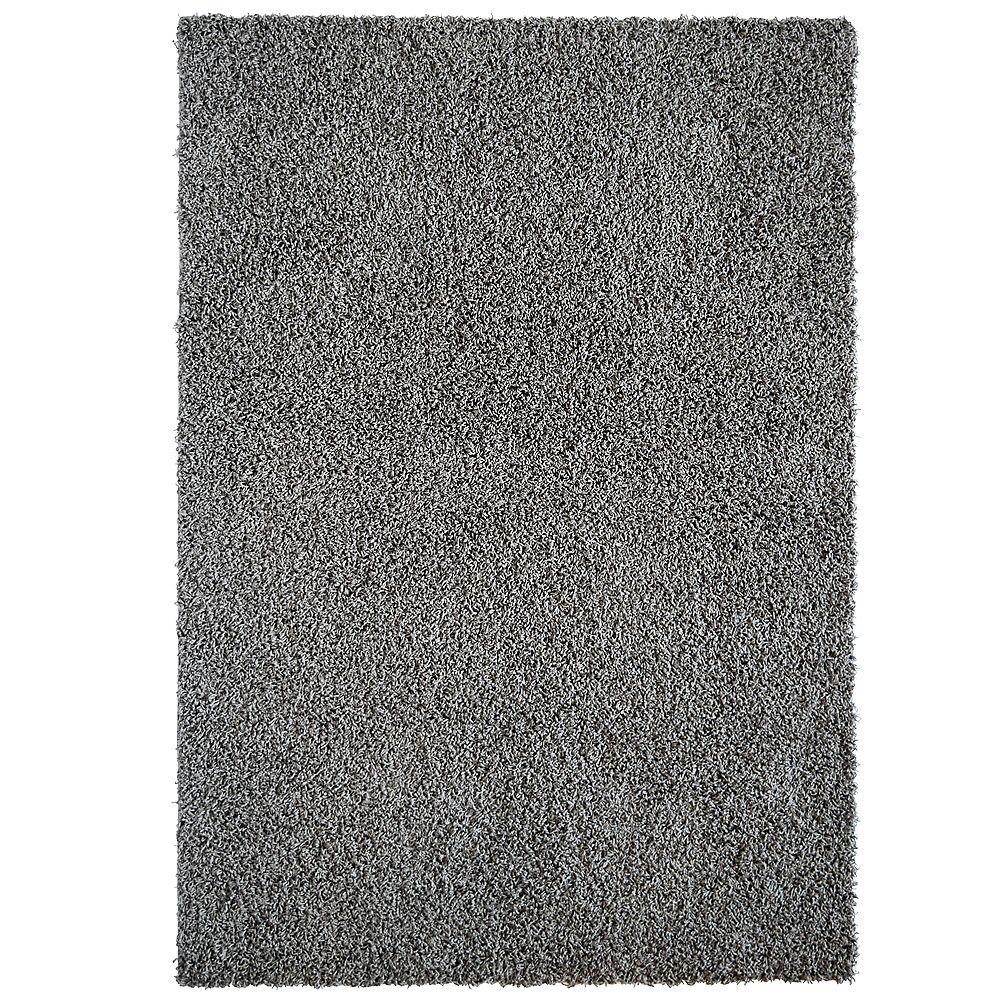Lanart Rug Comfort Grey 5 ft. x 7 ft. Indoor Shag Rectangular Area Rug