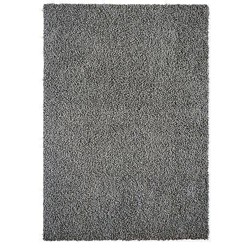 Carpette d'intérieur, 5 pi x 7 pi, à poils longs, rectangulaire, gris Comfort