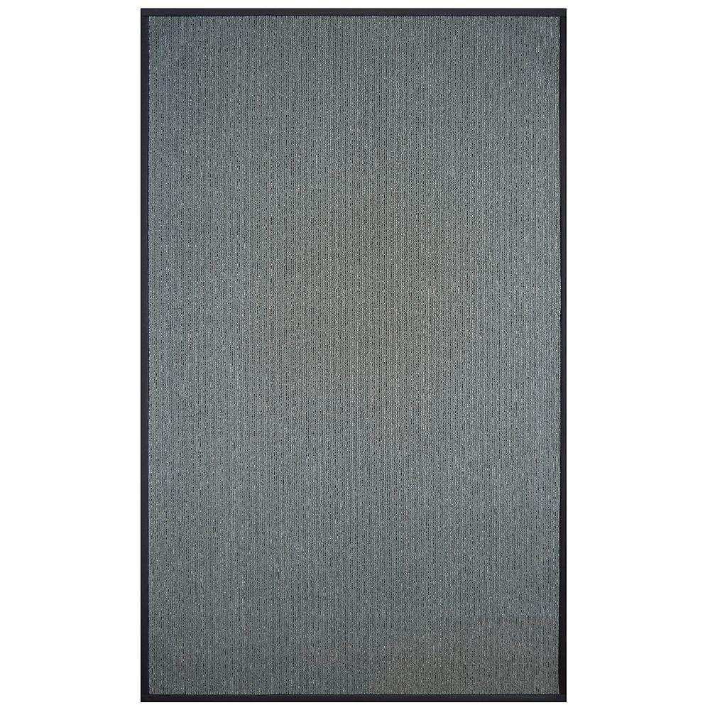 Lanart Rug Carpette, 5 pi x 8 pi, rectangulaire, gris