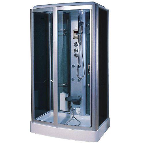 Moderne, élégante la douche à vapeur avec des multi-jets de corps qui massage la peau, avec une radio, et l'aromatherapie.