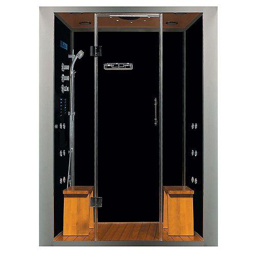 La douche à vapeur luxeuse en espace clos d'alcôve, avec des multi-jets de corps.