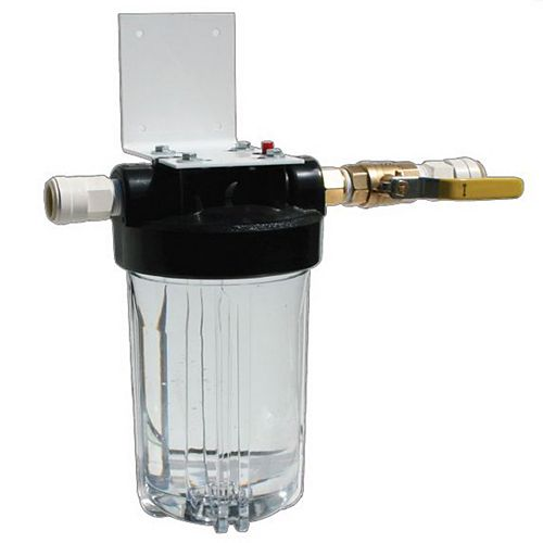 Whole House Clear Full Flow Filtration System with Bracket and Valve