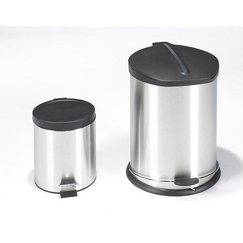 Poubelle avec fonction à pied avec bonus mini poubelle