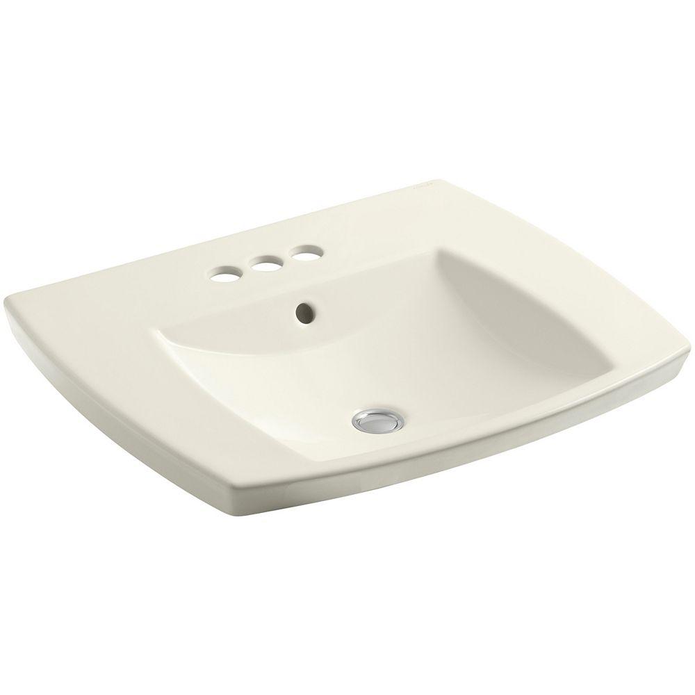 KOHLER Kelston(R) drop-in bathroom sink with 4 inch centerset faucet holes