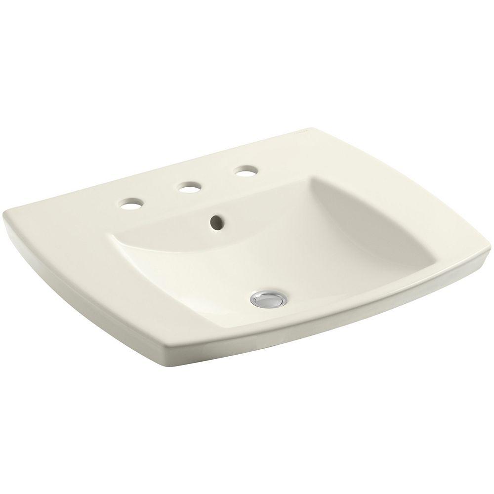 KOHLER Kelston(R) drop-in bathroom sink with 8 inch widespread faucet holes