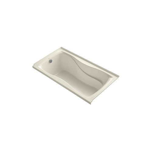 "Hourglass(R) 60"" x 32"" alcove bath with integral flange and left-hand drain"