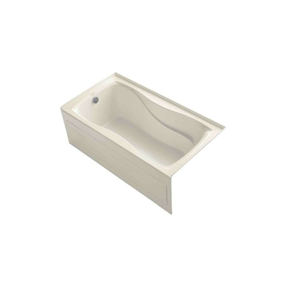 """KOHLER Hourglass(R) 60"""" x 32"""" alcove bath with integral apron and integral flange and left-hand drain"""