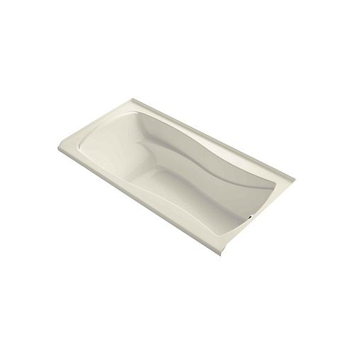 "Mariposa(R) 72"" x 36"" alcove bath with integral apron, integral flange and right-hand drain"