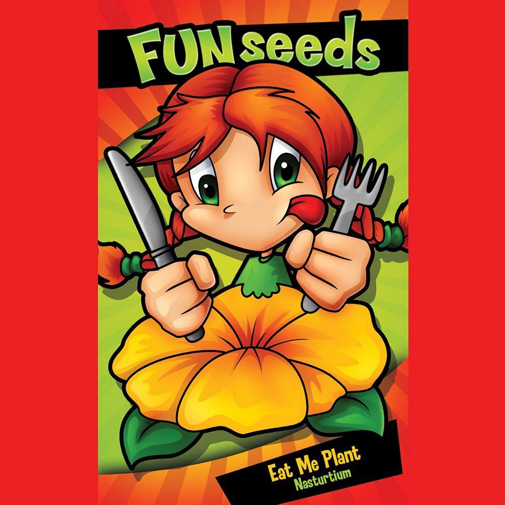 Mr. Fothergill's Seeds Fun Seeds Eat Me Plant                       (Nasturtium Tom Thumb)