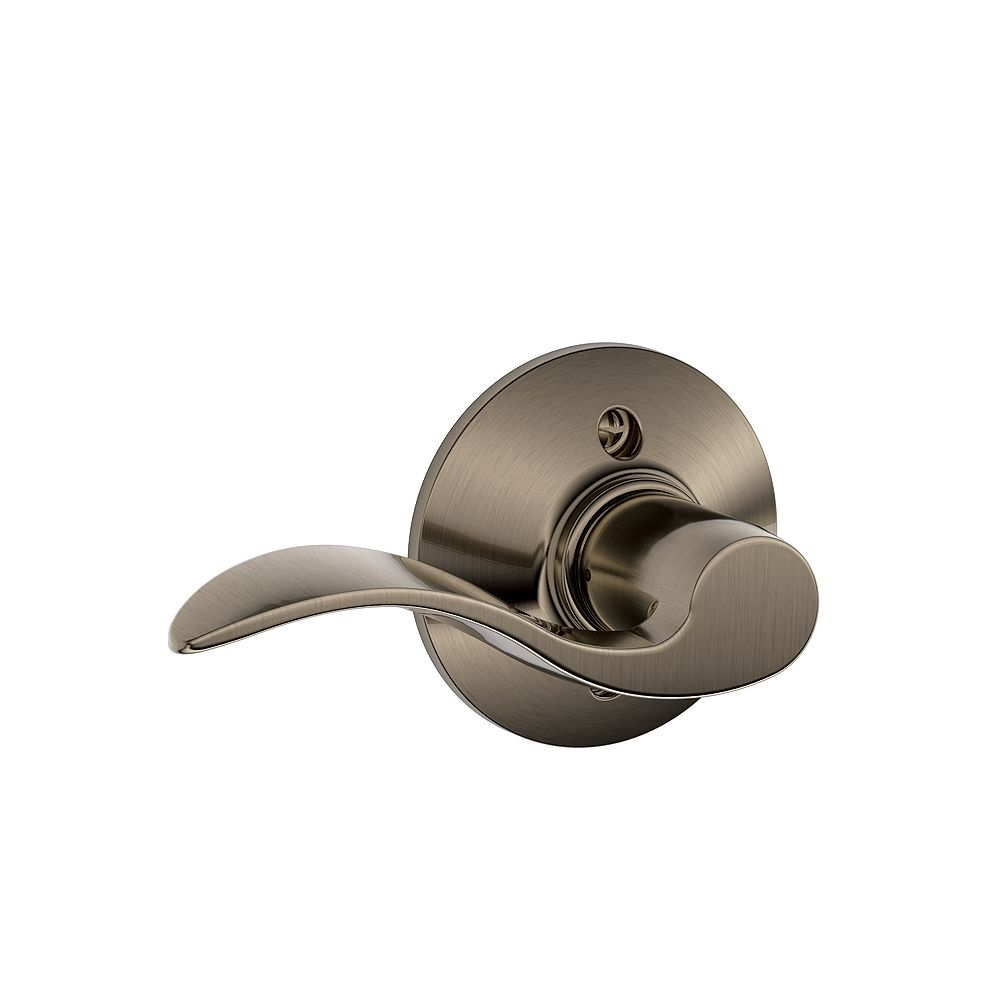 Schlage Accent Antique Pewter Left Handed Interactive Non-turning Door Lever