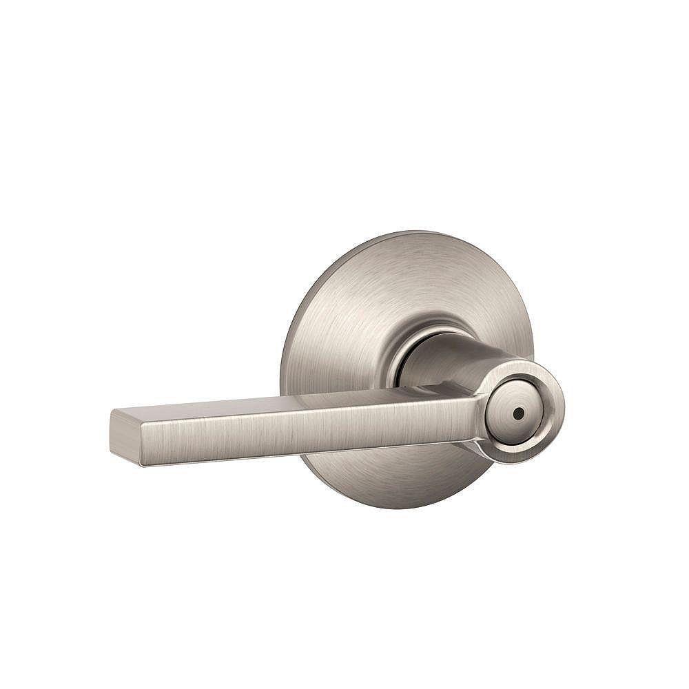 Schlage Latitude Satin BBed/Bath Privacy Door Lock Lever