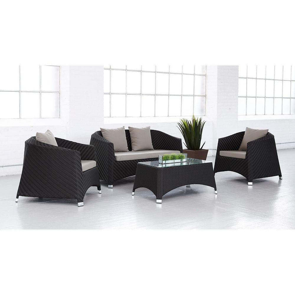 Cd Casual Malibu 4-Piece Deep Seating Set
