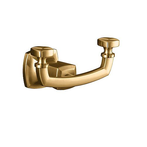 Margaux Double Robe Hook in Vibrant Brushed Bronze