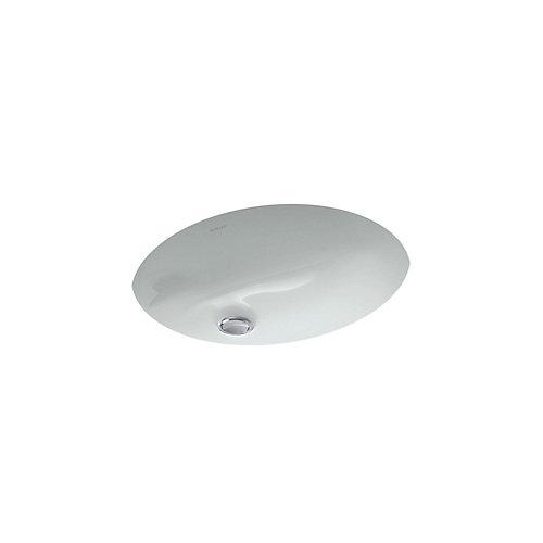 Lavabo de salle de bain en sous-surface Caxton, 15 x 12 po, avec bloc d'attache