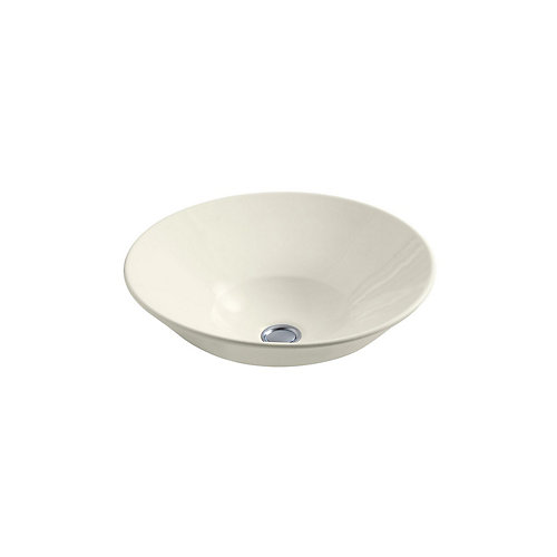 Conical Bell(R) vessel or wall-mount bathroom sink with glazed underside