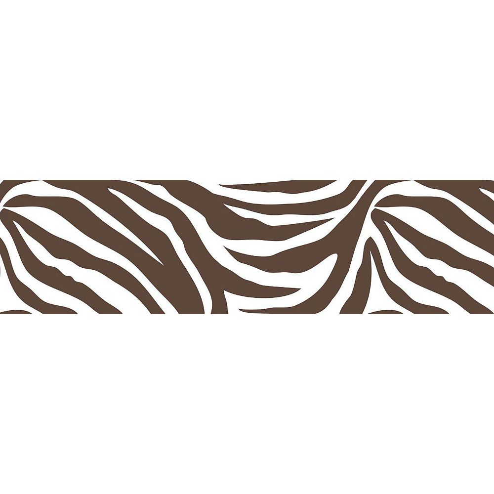 WallPops Brown And White Animal Instinct Stripe Wall Appliques