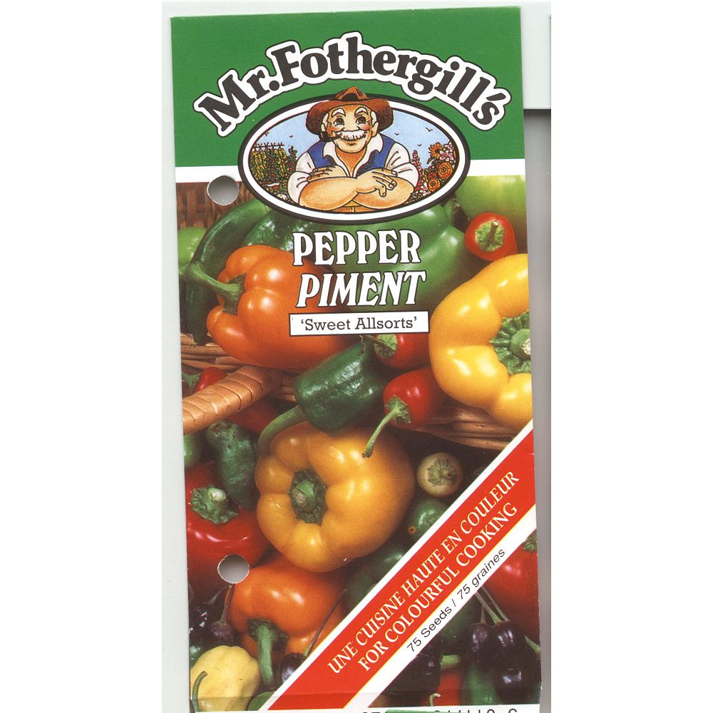 Mr. Fothergill's Seeds Pepper Mixed Selection/Sweet Allsorts Seeds