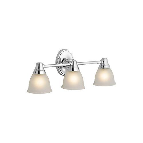 Transitional Triple Light Sconce For Faucet Line