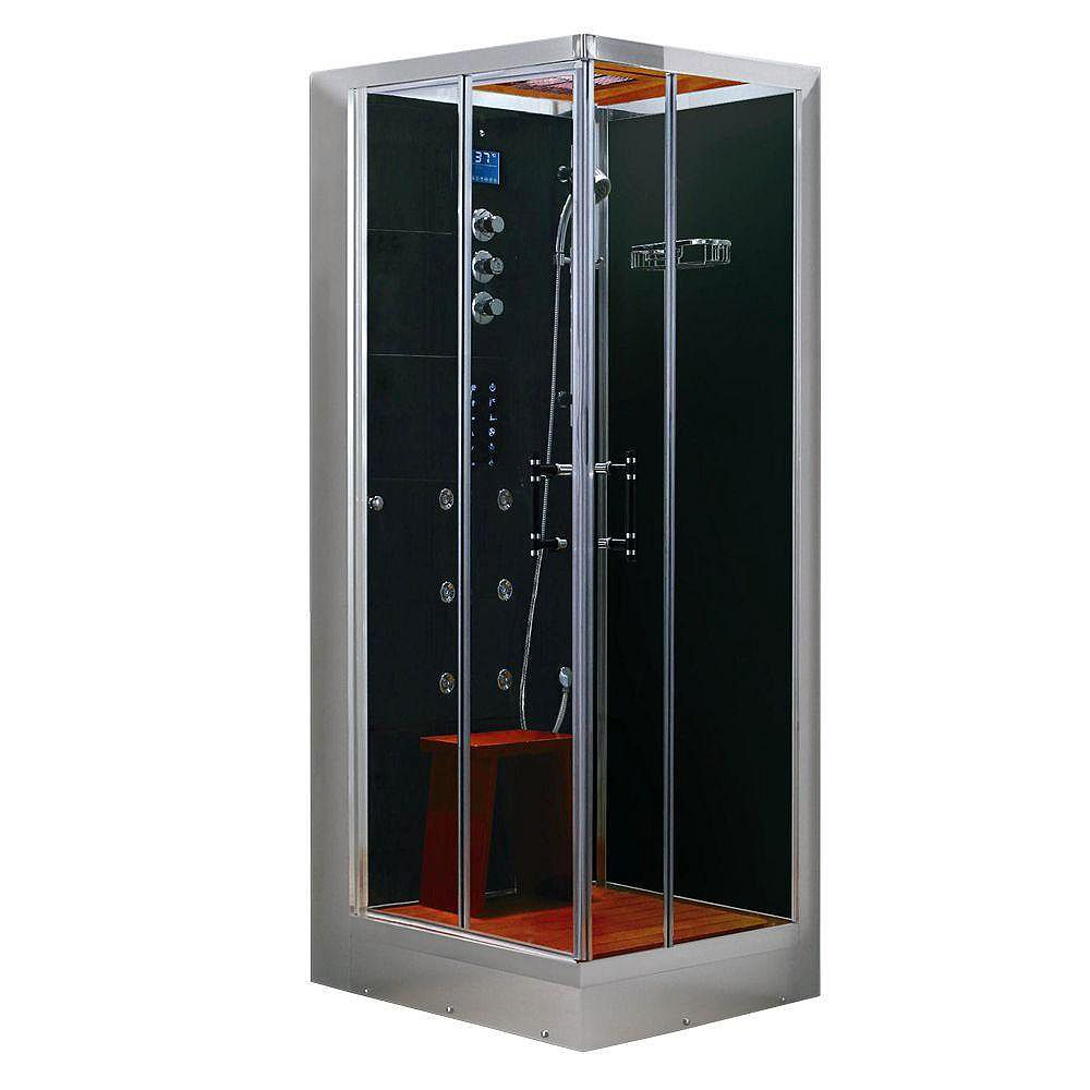 Steam Planet Luxury Steam & Shower Corner Enclosure With Multi Body Massage Water Jets, Radio & Aromatherapy