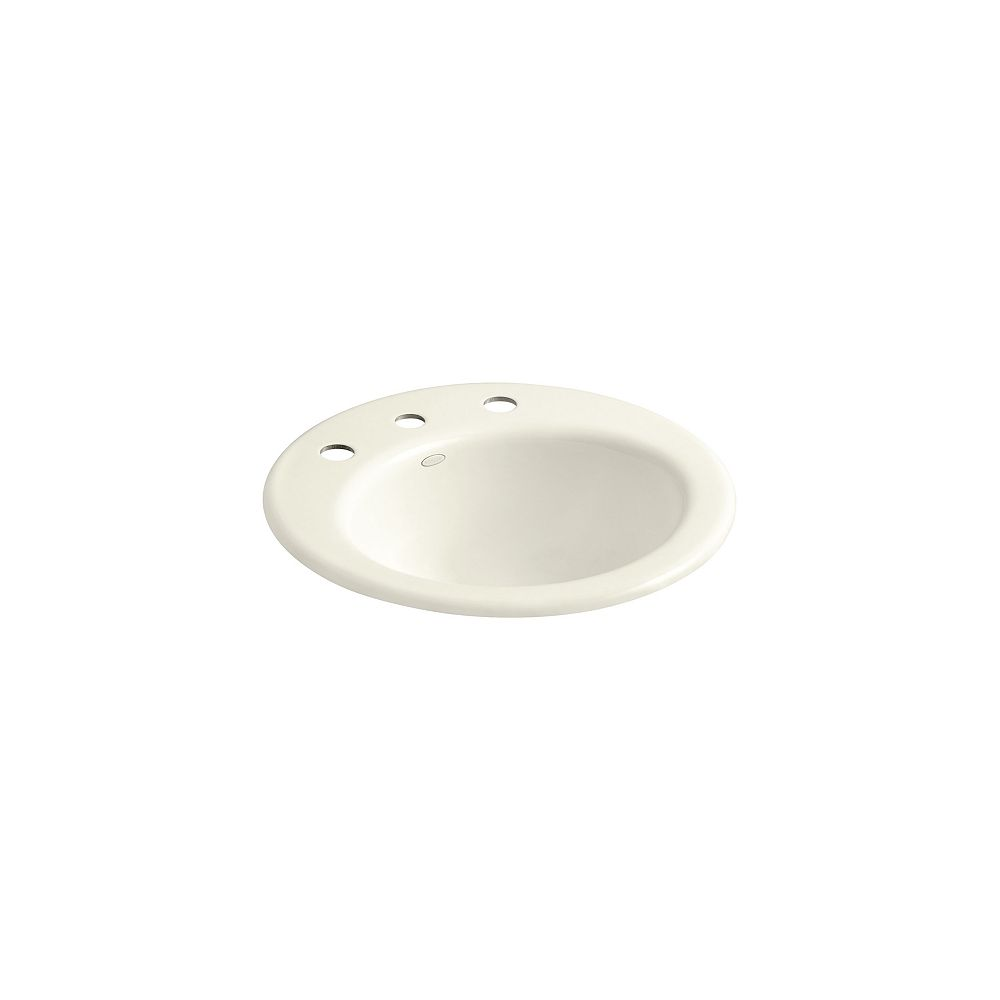 KOHLER Radiant Self-Rimming Bathroom Sink with 8-inch Centres