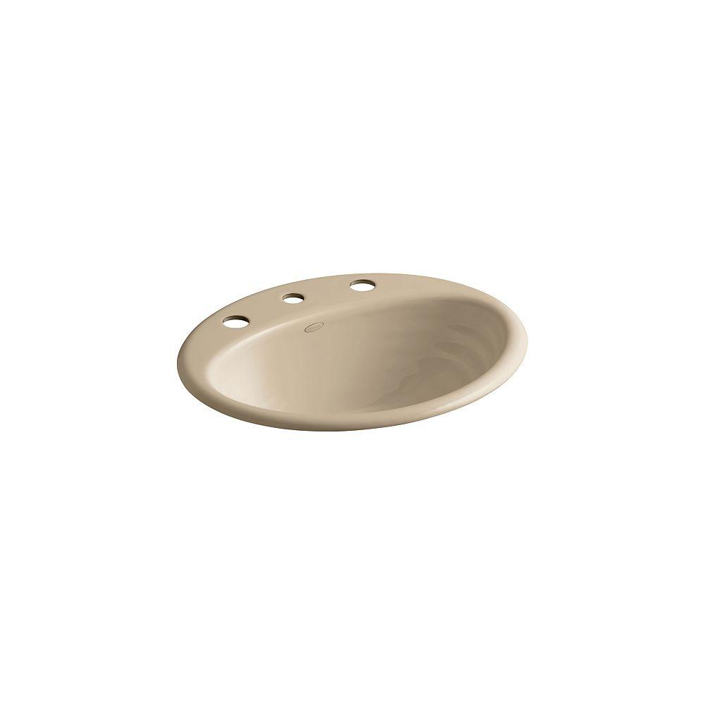 KOHLER Ellington Self-Rimming Bathroom Sink with 8-inch Centres