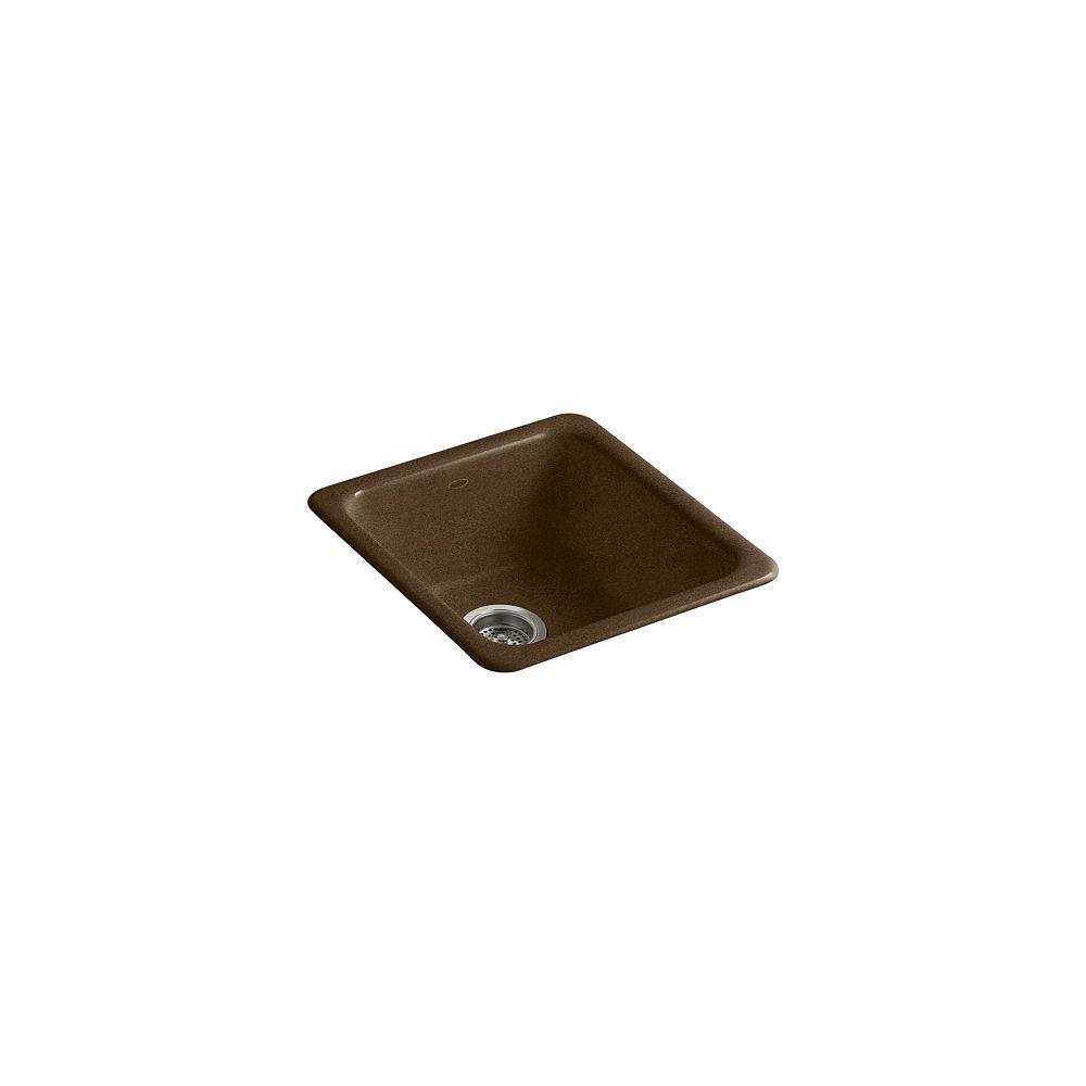KOHLER Evier de cuisine simple Iron/Tones a installation sur surface/sous-surface, 17 x 18 3/4 x 8 1/4 po