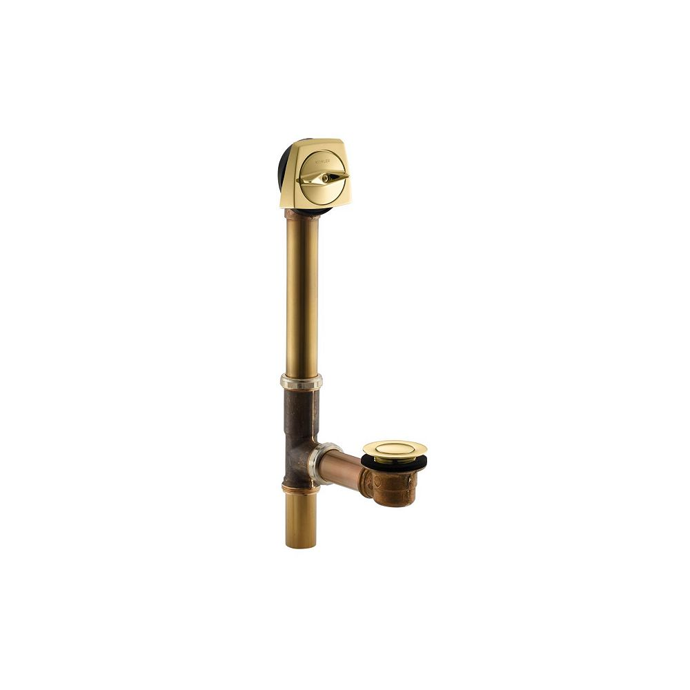 KOHLER Clearflo 1-1/2 Inch Adjustable Pop-Up Drain With Through-The-Floor Installations For 14 Inch-16 Inch Deep Baths