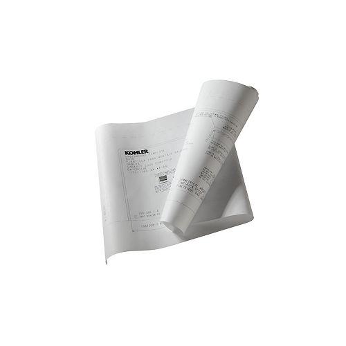 Trousse d'installation en sous-surface Tea-for-Two pour baignoire et baignoire a hydromassage, 6 pi