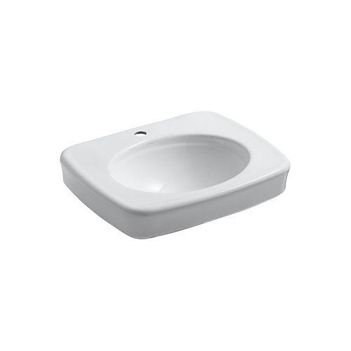 Bancroft(R) pedestal bathroom sink basin with single faucet hole