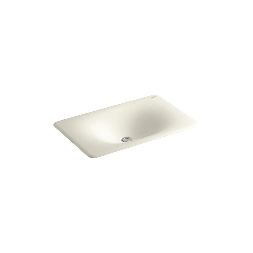 KOHLER Iron/Tones(R) 24-3/4 inch X 15-5/8 inch X 5-7/8 inch drop-in/under-mount bathroom sink