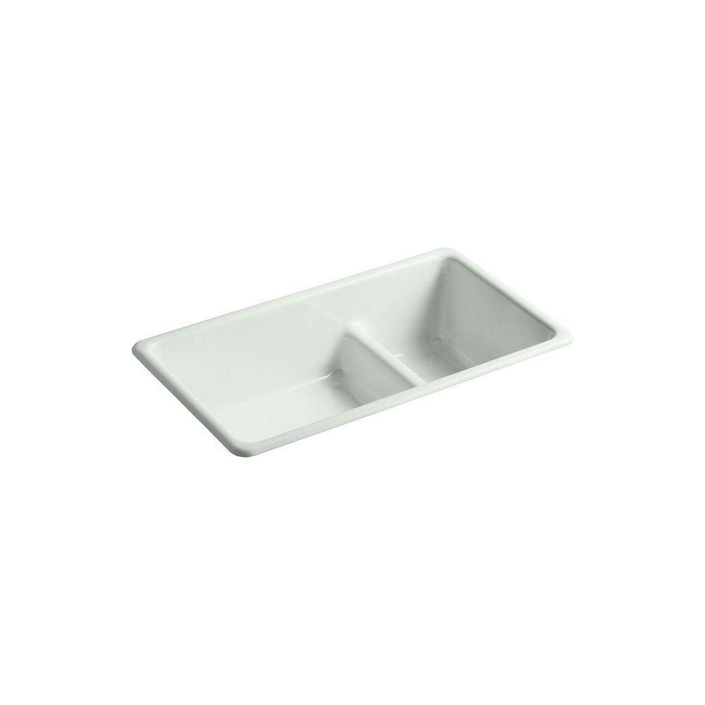 KOHLER Iron/Tones(R) Smart Divide(R) Self-Rimming Or Undercounter Kitchen Sink