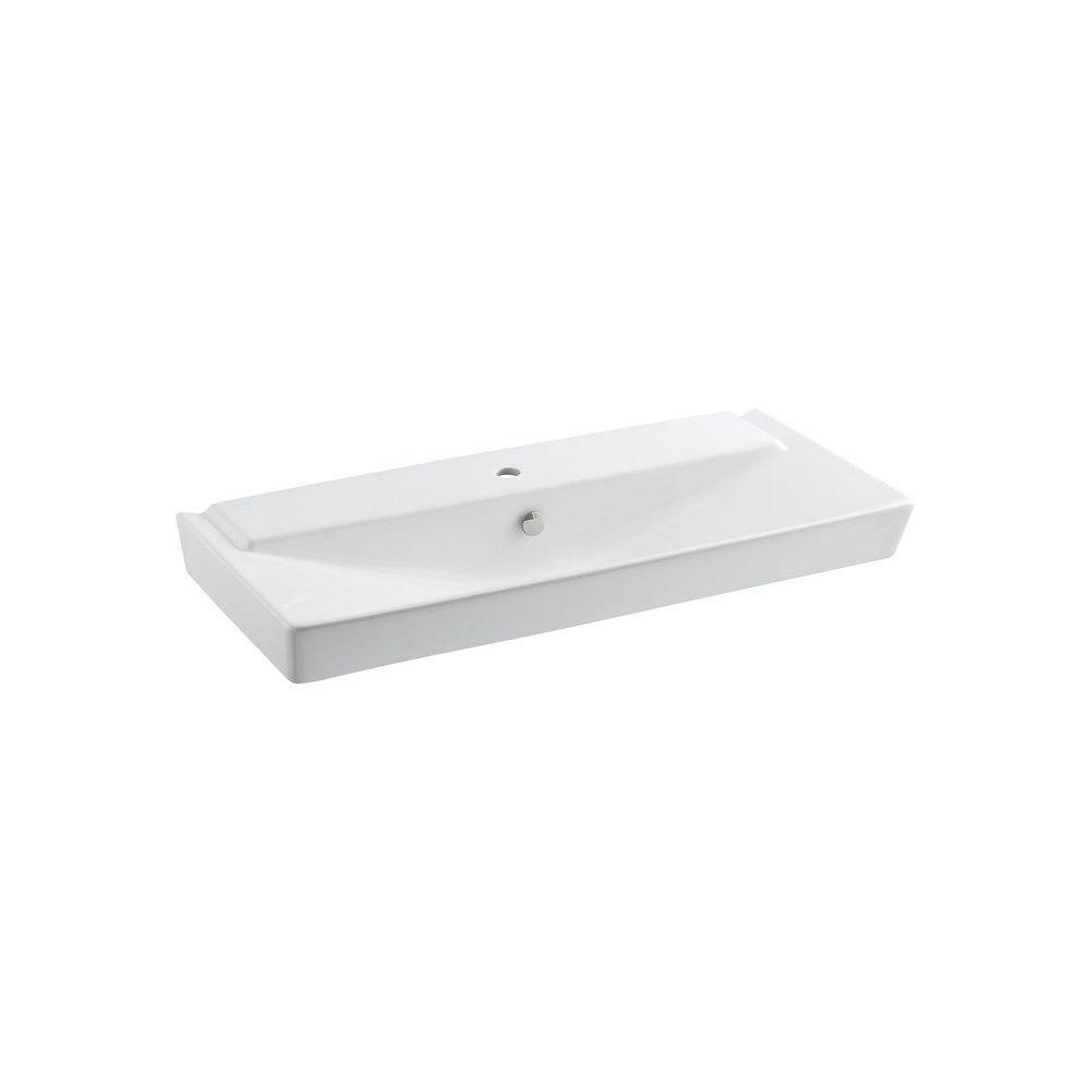 KOHLER Rêve(R) 39 inch pedestal bathroom sink basin with single faucet hole