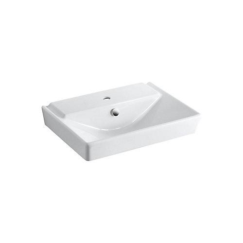 Rêve(R) 23 inch pedestal bathroom sink basin with single faucet hole