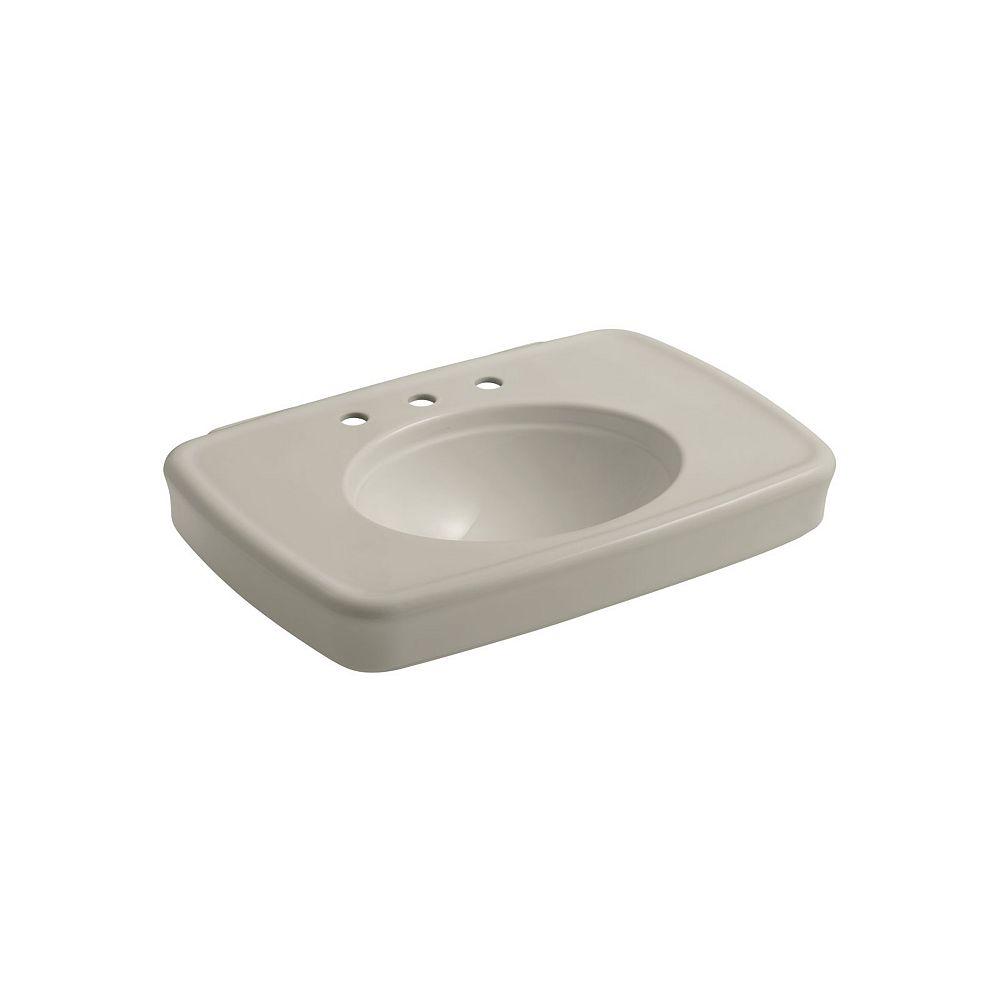 KOHLER Bancroft(R) 30 inch bathroom sink with 8 inch widespread faucet holes