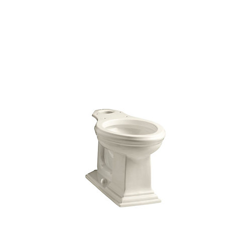Memoirs Comfort Height Elongated Toilet Bowl Only in Almond