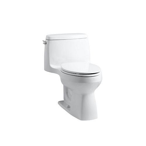 Toilette monopiece compacte allongee Santa Rosa Comfort Height, 1,28 gal/chasse, avec technologie de chasse d'eau AquaPiston et levier de declenchement a gauche