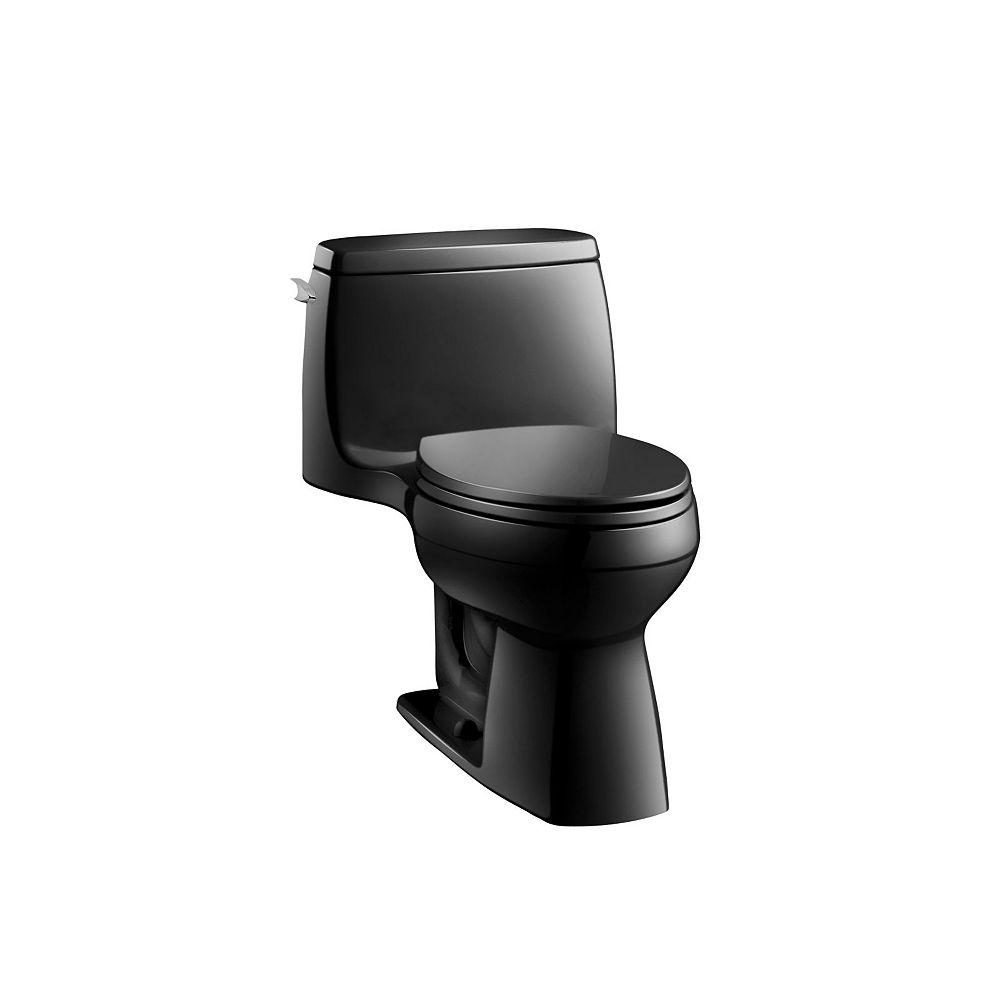 KOHLER Santa Rosa Comfort Height 1-Piece 1.28 GPF Single Flush Compact Elongated Toilet in Black