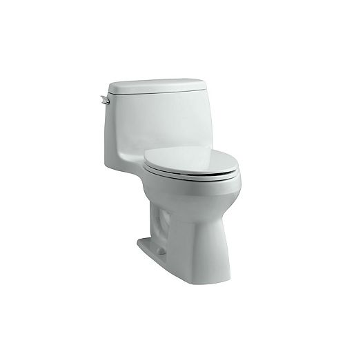 Santa Rosa Comfort Height 1-Piece 1.28 GPF Single Flush Compact Elongated Toilet in White